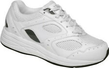 Flare - Drew Shoe - Diabetic Shoes - White - Leather - Extra Depth