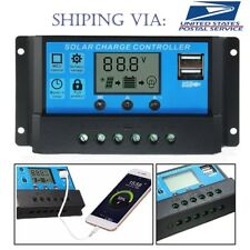 PWM 30A Solar Charge Controller 12V 24V LCD Display Dual USB Solar Panel Charger