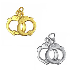 Handcuff Pendant for Necklace - Gold Plated or Silver Plated