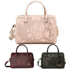 NWT Kate Spade Cameron St Perforated Rose Large Lane Leather Satchel Crossbody