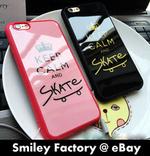 New Keep Calm and Skate TPU Fitted Back Cover Case for iPhone 5/5S 6/6S Plus