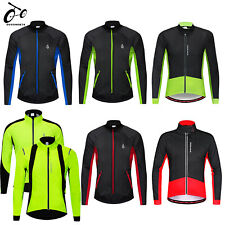 Fleece Thermal Winter Cycling Jacket Windproof Bike Bicycle Coat Warm up Jersey