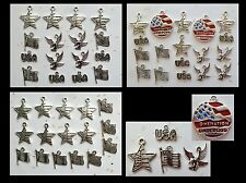 USA AMERICANA Patriotic CHARM COLLECTIONS Flag Star Eagle, One Nation under God