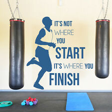 It's Not Where You Start Wall Sticker Sports Quote Wall Decal Teenage Kids Decor