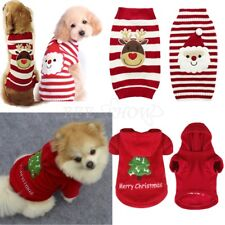 Pet Dog Puppy Christmas Clothes Costume Cat Knit Sweater Coat Hoodie Apparel Set