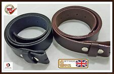 Men,s Genuine 100% Real Leather Belt Snap On Strap Without Buckle Top Quality/-