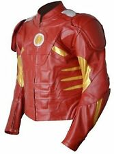 Men's Ironman Leather Motorbike Jacket with CE Armor Protection