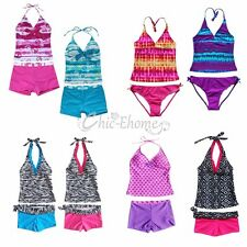Girls Kids Swimwear Swimsuit Tankini Bikini Sets Bathing Suits Swimming Clothes