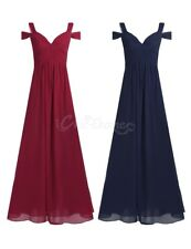 Women Formal Wedding Bridesmaid Long Evening Party Dress Cocktail Ball Prom Gown