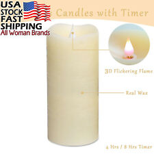 Flameless Candles with Timer, Flickering Candles, Battery Operated LED...