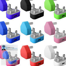 UK 3 Pin USB Mains Charger Plug Adapter for Apple iPod Touch 4th Generation (4G)