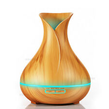 400ml Aroma Essential Oil Diffuser Ultrasonic Air Humidifier with Wood Grain