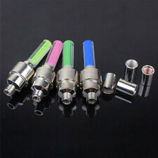 4 X Neon LED Flash Light Lamp Bike Car Tire Tyre Wheel Valve Sealing Caps h*