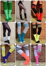 Womens Fancy Dress Leg Warmers Bright Colours 80s Party Dance Wear 1 2 or 3 Pair