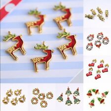 5PCS Wholesale Mixed Gold Christmas DIY Charms Jewelry Making pendants Xmas Gift