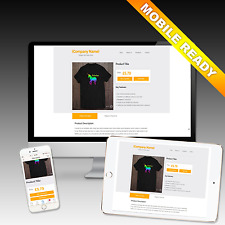 eBay Listing Template Auction Responsive Mobile Shop Design template EASY TO USE