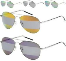 NEW SUNGLASSES MENS LADIES WOMENS DESIGNER SPLIT TWO TONE SPLIT MIRROR AVIATOR