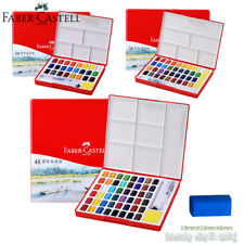 FABER-CASTELL Artists Solid Watercolor Painting Set Pocket Box 24/36/48 Colors