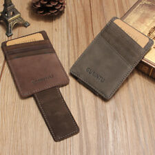 Men Leather Business Wallet ID Money Credit Card Slim Holder Money Clip Purse