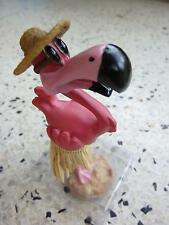 Pink Flamingo Dashboard Doll Tiki 50s Rockabilly Hawaii Kustom Kulture Wobbler