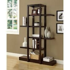 Display Étagère Shelf Brown Wood Stackable Stand Bookcase Tall Shelving Unit