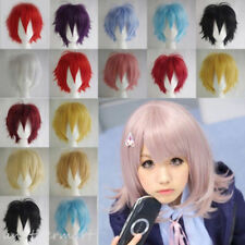 Unisex Cosplay Costume Short Wig Synthetic Hair Wigs Rooted Black Gray Brown Red