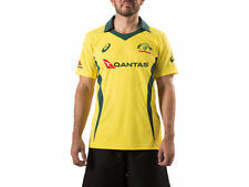 Official Asics Australian Cricket Team Mens Replica ODI Home Shirt