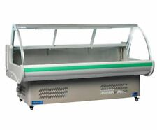 Refrigerated Serve Over Counter Butcher Deli Meat Fish Glass Display Chiller