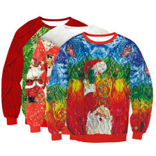 Unisex Mens Womens Warm Xmas Jumper Sweater Pullover Coat Sweats Knitted Hoodie