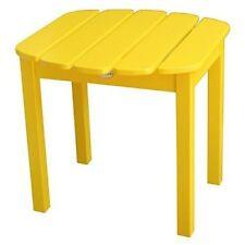 Outdoor Side Table Patio Stand End Yard Garden Lounge Furniture Pool Deck Yellow