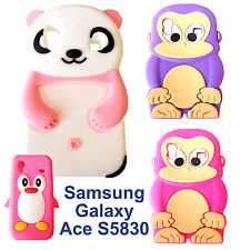 3D Soft Cover Silicone Case for Samsung Galaxy Ace S5830 Monkey Pinguin Panda