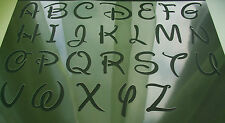 WALT DISNEY CARTOON LETTERS TEXT FONT UPPER LOWER Case NUMBERS Airbrush Stencil