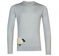 John Smedley 100% Merino SHEEP Bardot Grey Pullover Size Medium BNWT RRP £160