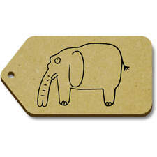 'Elephant' Gift / Luggage Tags (Pack of 10) (vTG0014897)