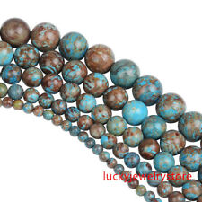 1 Strand (4/6/8/10/12mm) Blue Crazy Lace Agate Round Loose Bead 15.5 inch Z042