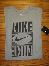 New Nike Football Graphic Tee T-Shirt Gray Cotton AA2095 Men's Small  Large