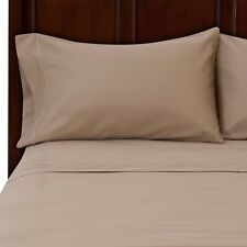 BRAND NEW US BEDDING COLLECTION ITEMS - 1000 TC 100% EGYPTIAN COTTON BEIGE SOLID