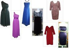 Ladies Occasion Dresses Pink/Blue/Black/Mulberry/Red UK Size 10 - Plus Size 24