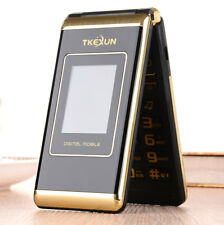 "TKEXUN M1 3.0"" dual Screen cell phones Dual SIM FM senior flip gsm mobile phone"