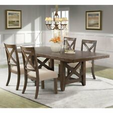 Picket House Francis 5 Piece Cross Back Dining Table Set