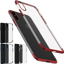 For Apple iPhone X 8 6 7 Soft Plating TPU Case Cover Protective Luxury HD Clear