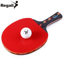 High-quality Table Tennis Ping Pong Racket One Long Handle Paddle Bat with Ball