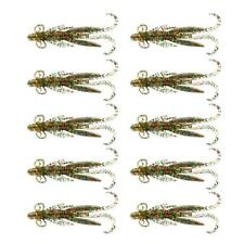 10pc Soft Lures Shrimp Lobster Baits Crayfish Fishing Bass Bait Tackle 7.5cm