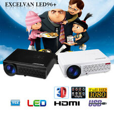 LED 1080P 5000Lumen HD Multimedia Projector 3D Home Theater HDMI for Smartphone