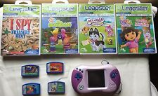 """""""BUNDLE"""" LEAPFROG LEAPSTER 2 PINK LEARNING GAME SYSTEM, 9 GAMES & STYLUS PEN!!!"""