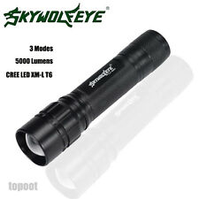5000 Lumens 3 Modes CREE XML T6 LED 18650 Flashlight Zoomable Torch Lamp Light A