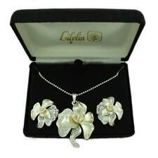 Crystal Rose Necklace and Earring Boxed Gift Set