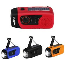 Solar Hand Crank Emergency Radio 2000mAh LED Flashlight Phone Charger Deluxe