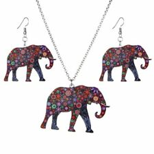 Fashion Jewelry Set Women Animal Elephant Pendant Necklace Earring Party Gifts