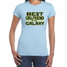 Womens Funny T Shirts-Best Girlfriend in Galaxy Star Wars Inspired-